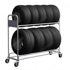 06.306-7035 тележка для транспортировки резины 2 яруса, 4 поворотных колеса, два со стопором.