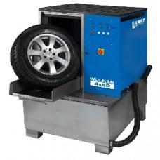Мойка для колес легковых и грузовых автомобилей с пневматической стабилизацией колеса WULKAN4x4P