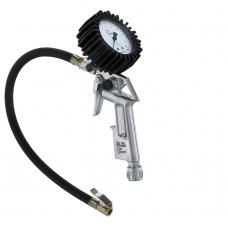 GUN4 Пистолет для подкачки колес с профессиональным манометром WIKA фронтальный